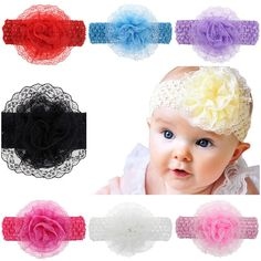 >> Click to Buy << 4 Inch New Flower Headband Soft Lace Chiffon Lace Teens Children Girls Weave Hair Band Headbands Hair Accessories Headdress #Affiliate
