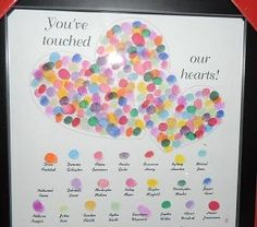 A cherished gift for any teacher with her student's names and fingertip prints. We gave it to her for Valentine's Day but it can be an end of the year gift as well. by lea