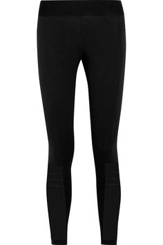 Adidas Performance - Takeover Stretch Cotton-blend Jersey Leggings - Black