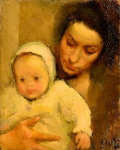 Cute little baby hat, almost all the babies were wearing them, Corneliu Baba - Maternitate Cute Little Baby, Little Babies, Baby Art, Portraits, Mother And Child, Room Paint, Figure Painting, Kids And Parenting, My Childhood