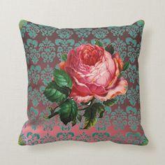 Dekokissen Rose 1 Canvas-Stoff Kissenbezug