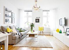 Skandynawski apartament - 44 metrów kwadratowych. - zdjęcie od cleo-inspire - Salon - Styl Skandynawski - cleo-inspire
