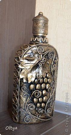 Декор предметов Аппликация из скрученных жгутиков Бутылочки Бумага фото 11