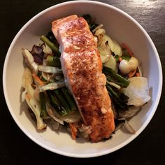The salmon and superslaw! So good!