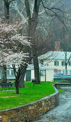 Berkeley Springs is not only chock full of studios, it's also home to the hot springs favored by our country's first president.