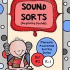 Sound Sorts  {Phonemic Awareness Sorting Series, Set #2} - Andrea  Knight