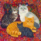 Carpet Cats II Impressão giclée por Megan Dickinson