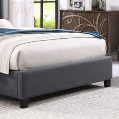 d820e3cbb6e727 Croce Upholstered Panel Bed Upholstered Beds, Panel Bed, Tufting Buttons,  Nailhead Trim,