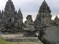Templos de Prambanan en Java, Indonesia