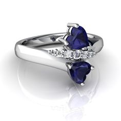 the perfect engagement ring, sapphires and diamonds