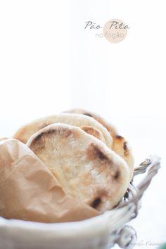 Stove Pita Bread * Pão Pita no fogão by Suvelle Cuisine