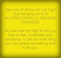 Emotional invalidation by husband