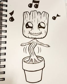 groot coloring sketch drawing draw pages easy cool sketches painting comic step nerdy dibujo dibujar deviantart marvel