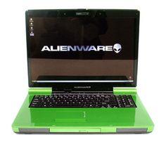 green alienware laptop