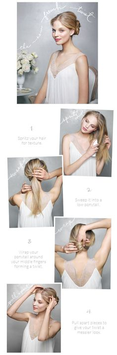 DIY wedding hairstyl