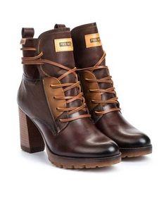 8838e756 Botines para mujer en color marron Caracteristicas con cremallera tacon 9  cm zapato de estilo casual