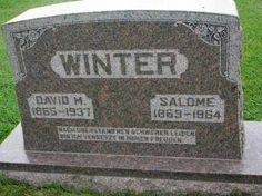 WINTER, SALOME - Hutchinson County, South Dakota | SALOME WINTER - South Dakota Gravestone Photos
