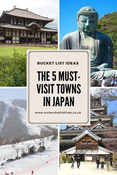 Find out the 5 must visit towns in Japan. #travel #japan #mustvisit #towns