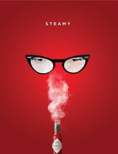 steamy- target market related to the style of the sunglasses Good Advertisements, Clever Advertising, Advertising Design, Advertising Campaign, Ad Design, Graphic Design, Ad Of The World, Ads Creative, Creative Design