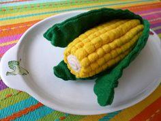 Felt play food - Corn by adline✿makes, via Flickr