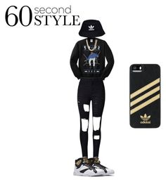 """Drake Views Outfit"" by mccantstiera on Polyvore featuring WithChic, adidas, Charlotte Russe, adidas Originals, men's fashion, menswear, DRAKE, views and 60secondstyle"