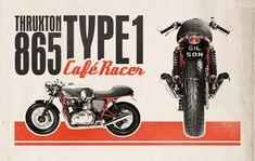 バイクをモチーフにしたレトロな広告デザインを作成する方法