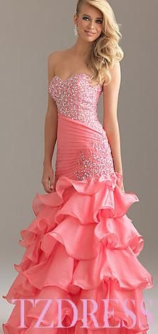 I love this dress but it seems like it wud be hard to dance in much less get in! :) I like this!!!! The only thing that I don't is the color.