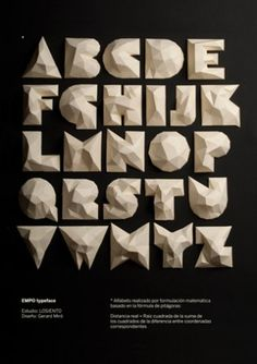 Paper lettering project for EMPO by Gerard Miró #typography
