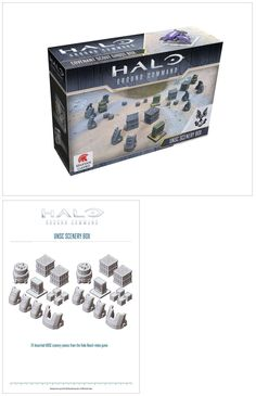 Other Miniatures and War Games 2537: Spartan Games: Halo: Ground Command - Unsc Scenery Box (10Mm) -> BUY IT NOW ONLY: $32 on eBay!