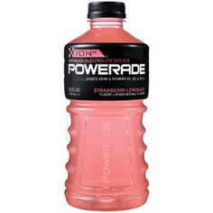 I'm learning all about Powerade Sports Drink B Vitamin Enhanced Strawberry at Juice Drinks, Alcoholic Drinks, Beverages, Junk Food Snacks, Food Food, Campbell Soup Company, Bad Room Ideas, Soda Drink, Sports Drink