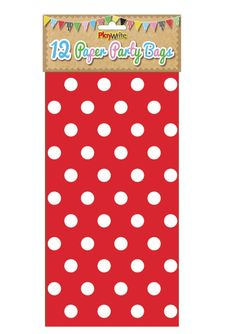Red Polka Dot Paper Party Bags   - Buy Now, Extrabits.co.uk