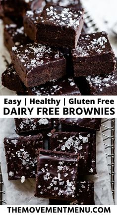 These gluten free and dairy free brownies are easy to make fudgy and made with coconut oil. They are healthy decadent and absolutely the best gluten free brownies youll try. Easy No Bake Desserts, Gluten Free Desserts, Dessert Recipes, Light Desserts, Easter Desserts, Raw Desserts, Breakfast Recipes, Dairy Free Brownies, Gluten Free Brownies