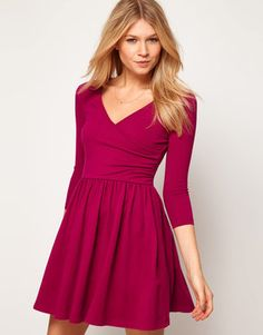 POPSUGAR Shopping: Asos Skater Dress With Ballet Wrap and 3/4 Sleeve