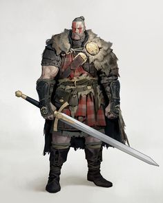 """""""Highlander"""" by Dongho Kang Fantasy Character Design, Character Design Inspiration, Character Concept, Character Art, Dungeons And Dragons Characters, Dnd Characters, Fantasy Characters, Fantasy Armor, Medieval Fantasy"""