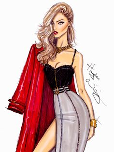 #Hayden Williams Fashion Illustrations  #Heartbreaker by Hayden Williams