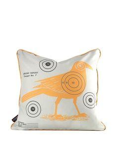 Inhabit Crow Bullseye Pillow, Sunshine, http://www.myhabit.com