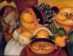 La Cola - 2003 Alberto Godoy cuban artist cuba habana online paint art gallery painting houston fine art miami florida paintings