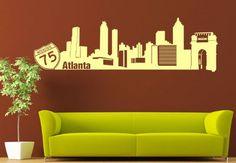 Wall Vinyl Sticker Decals Decor Art Bedroom Design Mural Words Sign Atlanta Town City Skyline (Z1016) StickersForLife http://www.amazon.com/dp/B00DQ4F7ZU/ref=cm_sw_r_pi_dp_53Oevb1AE4CB0