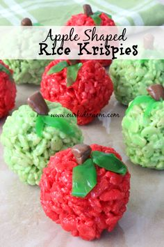 Apple Shaped Rice Krispie Treats