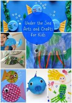 An Ocean Theme/Unit in Pre-school or Kindergarten is always a winner with kids. There are so many interesting creatures who live under the sea, for kids to have fun making and learning about. Find ideas here for Whales, Jellyfish, Mermaids, Fish, Crabs, Octopus and Shark Crafts.