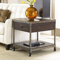 Hammary Structure Drawer End Table with Casters ** Learn more by visiting the image link.