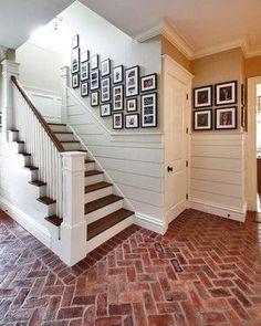 Herringbone Brick Floor - Country Club Homes