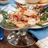Grilling takes this fast shrimp appetizer from simple to super. For an authentic Italian presentation, thread the shrimp on sturdy rosemary sprigs before grilling. If you can't find fresh rosemary sprigs, thread shrimp onto wooden skewers (soak skewers in water for 30 minutes first).