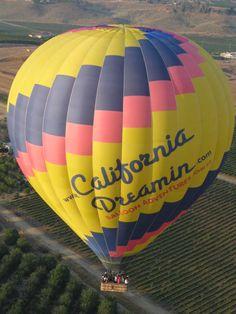 Temecula Valley Hot Air Balloon Rides.. California Dreamin' flying over the beautiful Temecula Vineyards & Temecula Wineries.