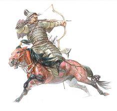 монгольский воин XIII век