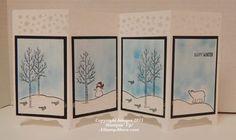 2015 Pretty Snowman Panel Card