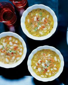 White Bean Soup with Bacon and Herbs