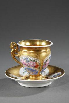 Empire Sevres porcelain cup