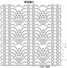 Crochet Shawl Diagram, Crochet Stitches Chart, Crochet Motif Patterns, Thread Crochet, Filet Crochet, Crochet Scarves, Crochet Curtains, Crochet Tablecloth, Crochet Doilies