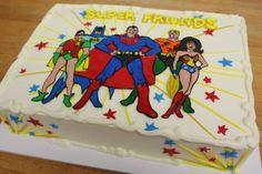 Super Friends / Superman, Batman, Wonderwoman, Robin, Aquaman (Cakes)